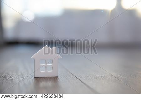 White House Model With Space To Insert Text. Property Protection Concept. Place For Text