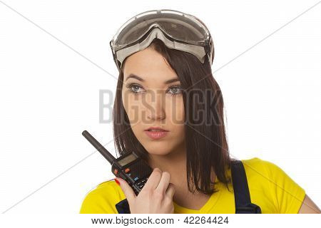 Woman With Walkie-talkie