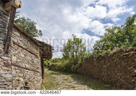 Village Of Kovachevitsa With Nineteenth Century Houses, Bulgaria