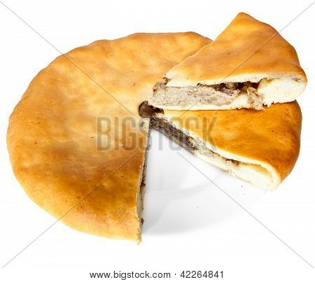 Osset national pie Fyddzhin with meat