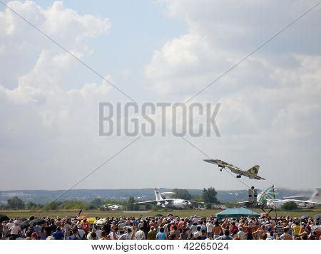 Russian Military Jet Fighter Su-35