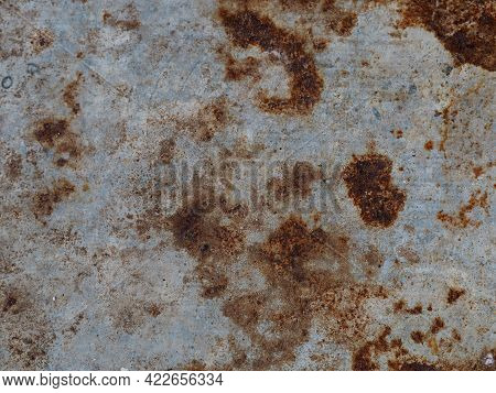 Flash Rust On Zinc Sheet, Galvanized Sheets Rough Surface Wall Texture Material Background