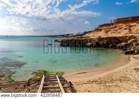 Formentera Beach Of Calo D Es Mort In Balearic Islands.