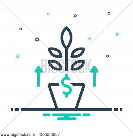 Mix Icon For Growth Development Evolution Flourish Rise Increase Profit