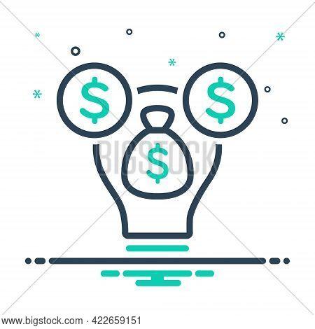 Mix Icon For Venture-capital Venture Capital Endeavor Amount Investment Finance