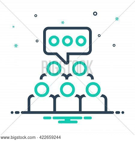 Mix Icon For Focus-group Focus Group Survey Audience Crowd Audience Management Cooperation Employee
