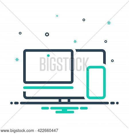 Mix Icon For Multiple-devices Multiple Devices Compatibility Digital Electronic Pc Usability Collect