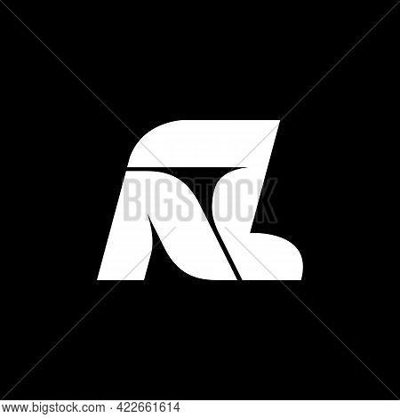 Nz Letters Logo Design - Abstract Vector Monogram Emblem. Stock Vector Illustration.