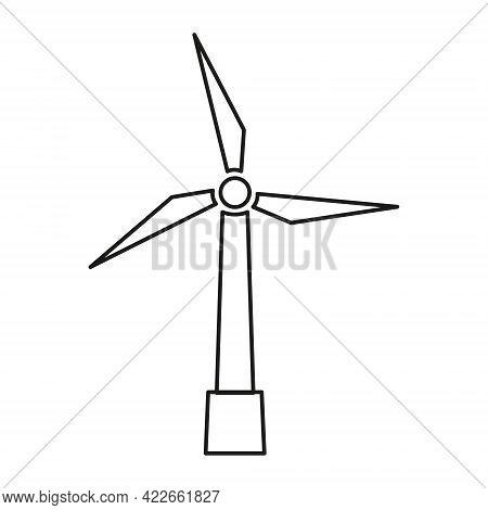 Wind Generator Icon. Wind Turbine. Wind Tower. Isolated Vector Illustration.