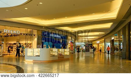 Katowice. Poland 11 May 2021. Young People Shopping Mall In Silesia City Center Katowice. Interior O