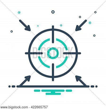 Mix Icon For Goal Ambition Intention Target Destination Achievements