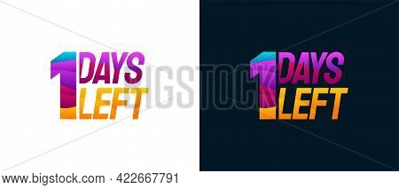 Modern Colorful Countdown Left Days Banner, Number Of Days Left Badge For Promotion, Countdown Sales