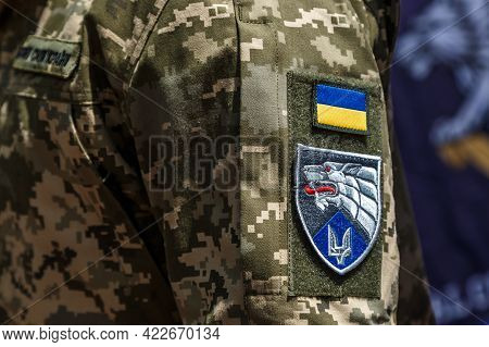 Khmelnitsky. Ukraine. May 23, 2021.military Vehicles.ukrainian Soldiers At The Parade For The Day Of