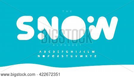Round Bold Alphabet Letter Font. Modern Logo Typography. Heavy And Fat Vector Typographic Design. So