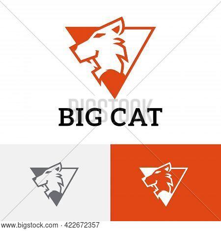 Triangle Big Cat Tiger Leopard Cougar Cheetah Jaguar Logo