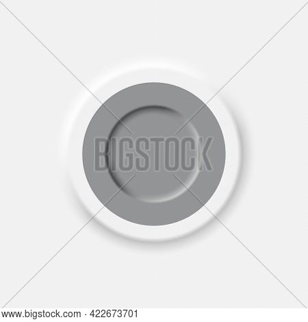 Neomorphic Style Interface Button Design Element Vector