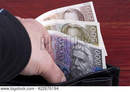 Croatian Money - Kuna In The Wallet