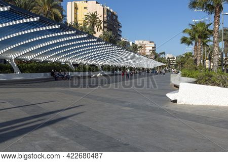 05-10-2021. Torrevieja, Alicante, Spain. The Paseo Vista Alegre Is Located Next To The Torrevieja Na