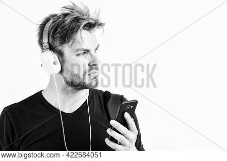 Radio Wave. Pop Music. Mp3 Player Concept. Music Application. Enjoy Sound Headphones. Music Gadget.