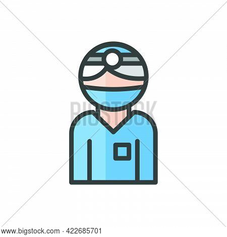Surgeon Avatar. Doctor At The Hospital Character. Medicine People. Profile User, Person, People Icon