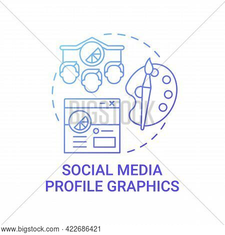 Social Media Profile Graphics Concept Icon. Business Branding Abstract Idea Thin Line Illustration.
