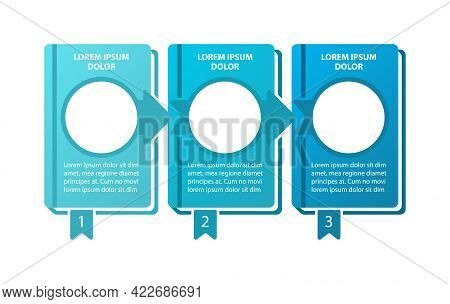 Educational Adventure Vector Infographic Template. Program Steps Presentation Design Elements With T