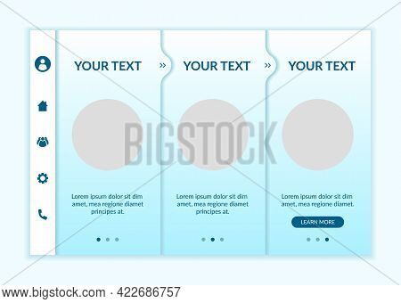 E-learning Onboarding Vector Template. Responsive Mobile Website With Icons. Web Page Walkthrough 3