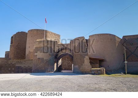 Main Entrance To Medieval City Ani Surrounded By Powerful Walls & Towers, Near Kars, Turkey. Ani Is