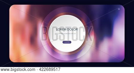 Abstract Colorful Blurred Header, Background Or Landing Page, Multi Purpose Design Template - Vector