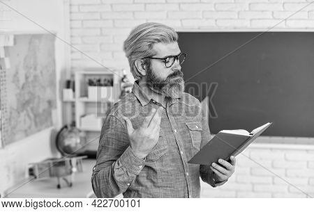 Aristocrat Scholar. Back To School. Literature And Language Learning. Strict Teacher In Glasses. Tea