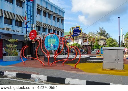 Labuan,malaysia-may 21,2019:view Of City Park Garden Known As Laman Victoria At Old Town Center Of L