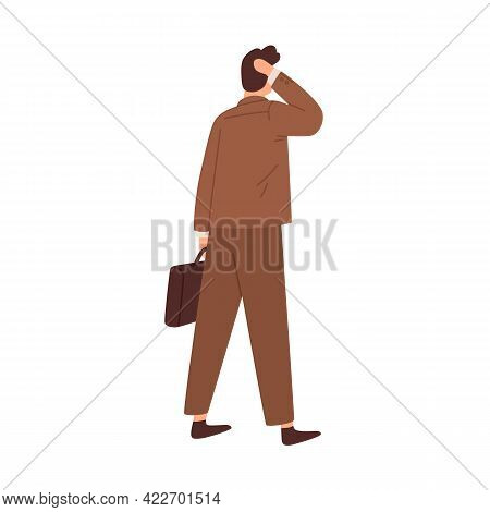 Questioned Confused Man Hesitating, Standing In Doubt Before Difficult Business Decision. Puzzled Pe