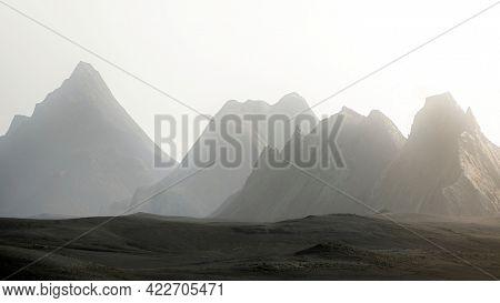 Overcast over central highland mountain range