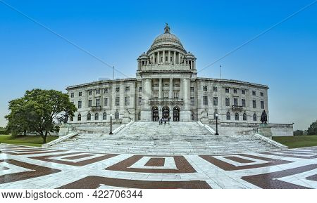 Providence, Usa - September 22, 2017: The Capitol In Providence Serves At The Official Government Ha