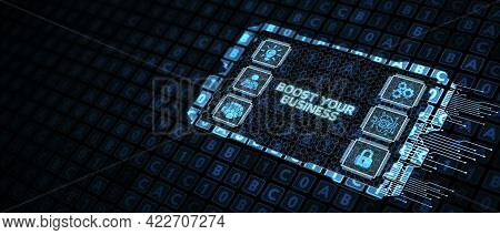 Business, Technology, Internet And Network Concept. Boost Your Business 3d Illustration