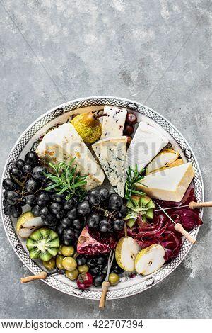 Cheese platter food photography recipe idea