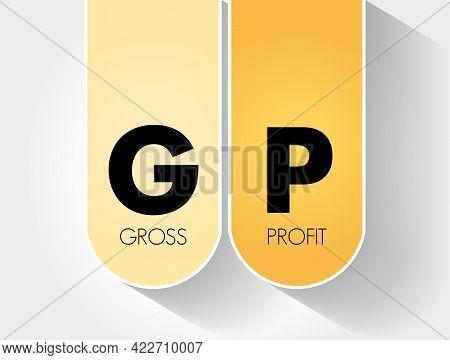 Gp - Gross Profit Acronym, Business Concept Background