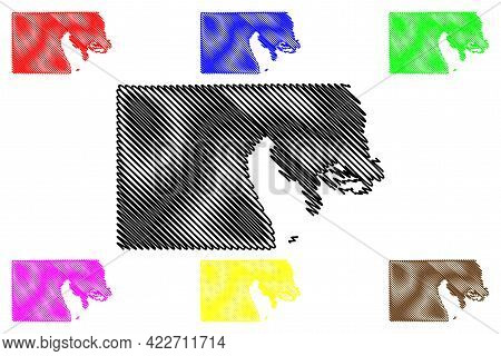 Box Elder County, State Of Utah (u.s. County, United States Of America, Usa, U.s., Us) Map Vector Il