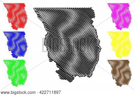 Cache County, State Of Utah (u.s. County, United States Of America, Usa, U.s., Us) Map Vector Illust