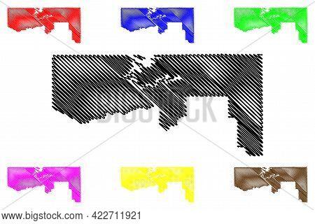 Daggett County, State Of Utah (u.s. County, United States Of America, Usa, U.s., Us) Map Vector Illu