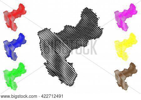 Morgan County, State Of Utah (u.s. County, United States Of America, Usa, U.s., Us) Map Vector Illus