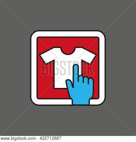 Tshirt Tee Fashion Store Touch Shopping Icon For App Website Or Advertising