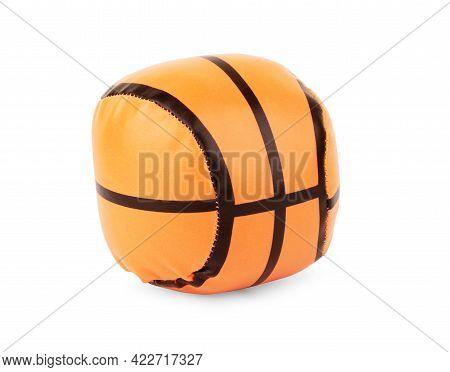 Basketball Ball Over White Background. Orange Ball, Sports Concept