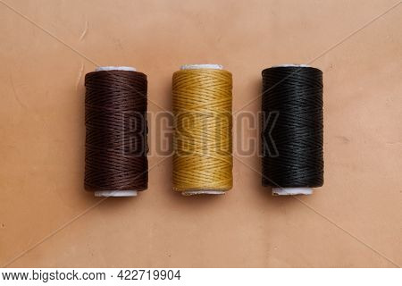 Waxed Polyester Thread, 3 Color Leather Sewing Waxed Thread For Diy Leather Craft On The  Genuine Le