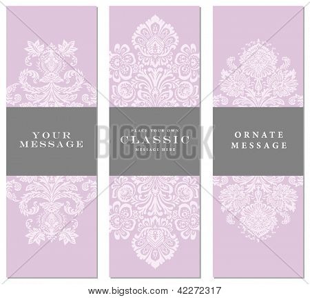 Vector Floral Frame Set. Easy to edit. Perfect for invitations or announcements.