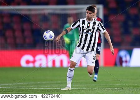 Bologna, Italy. 23th May 2021 . Alvaro Morata Of Juventus Fc  During The Serie A Match Between Bolog