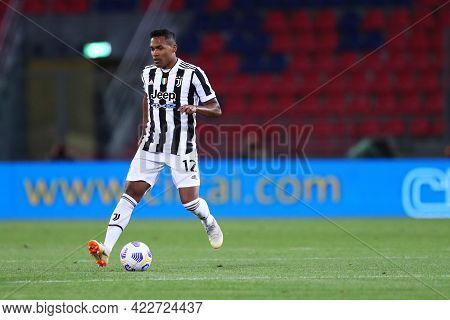 Bologna, Italy. 23th May 2021 . Alex Sandro Of Juventus Fc  During The Serie A Match Between Bologna