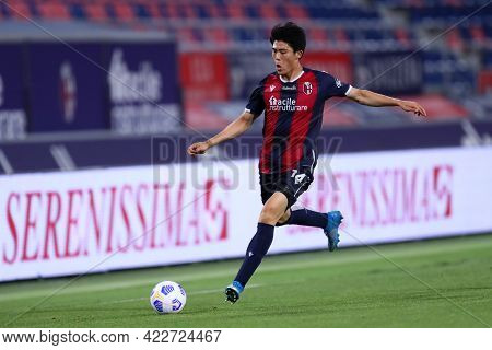 Bologna, Italy. 23th May 2021 . Takehiro Tomiyasu  Of Bologna Fc  During The Serie A Match Between B