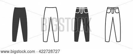 Pants Icons. Men's Jeans Or Pants Sign Icons. Clothing Symbol. Vector Illustration