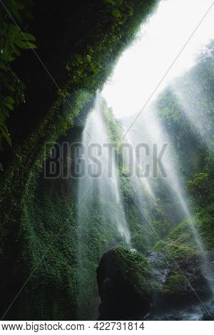 View of waterfall in Java, Indonesia